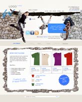 iWeb Template: Clothes Theme