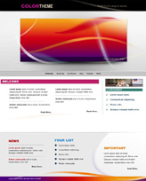 iWeb Template: Color Theme