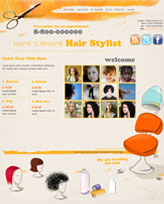 iWeb Template: Hair Stylist Theme