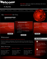 iWeb Template: Black Space