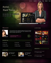 iWeb Template: Stylish Black