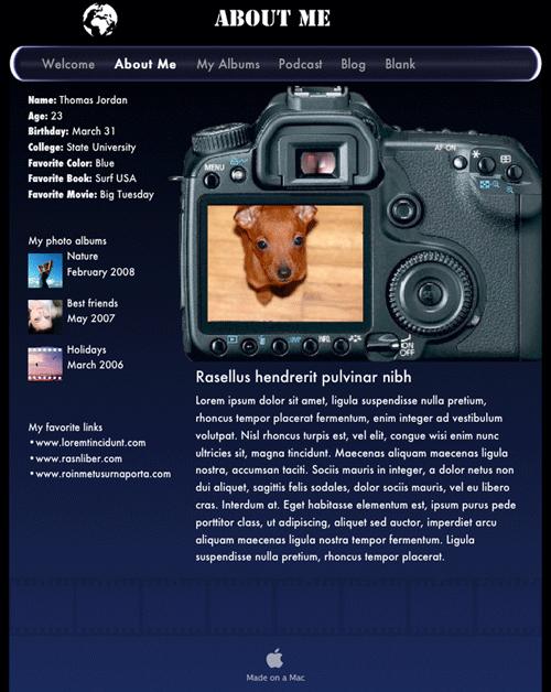 iweb photographer for apple ilife08 ilife11